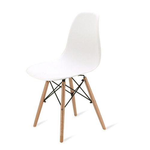 Strange Joolihome Eiffel Dining Chair Plastic Wood Retro White Creativecarmelina Interior Chair Design Creativecarmelinacom