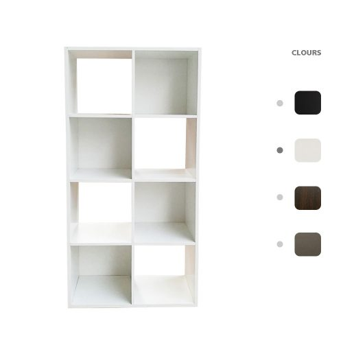Wooden Bookcase Storage Unit Cube 1 2 3 4 6 8 9 Tier Bookcase Shelving For Home Office Display White 8 Cube Joolihome Furniture